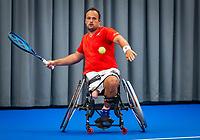 Amstelveen, Netherlands, 22 Augustus, 2020, National Tennis Center, NTC, NKR, National  Wheelchair Tennis Championships, Man's Single final single final : Tom Egberink (NED) <br /> Photo: Henk Koster/tennisimages.com