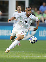 Charlie Davies controls the ball. USA defeated Grenada 4-0 during the First Round of the 2009 CONCACAF Gold Cup at Qwest Field in Seattle, Washington on July 4, 2009.
