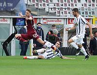 Torino 03-04-2021<br /> Stadio Grande torino<br /> Serie A  Tim 2020/21<br /> Torino - Juventus<br /> Nella foto:   Vojoda Mergim Chiesa                                <br /> Antonio Saia Kines Milano