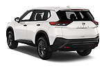 Car pictures of rear three quarter view of 2021 Nissan Rogue S 5 Door SUV Angular Rear