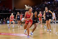 England's Chelsea Pitman in action during the International Netball - NZ Silver Ferns v England Roses at Te Rauparaha Arena, Porirua, New Zealand on Thursday 7 September 2017.<br /> Photo by Masanori Udagawa. <br /> www.photowellington.photoshelter.com