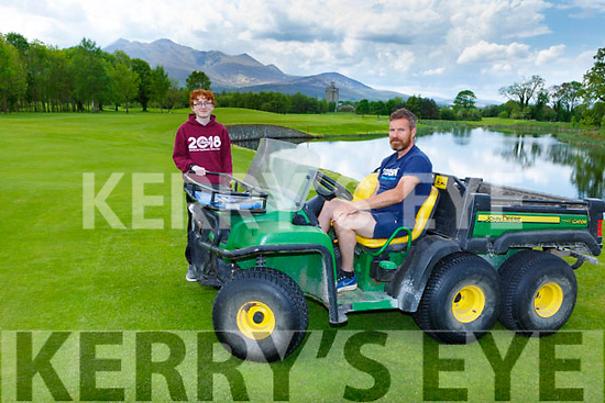 Padraig and Fionan Bruton at Beaufort Golf Course