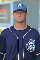 Avery Barnes #4 of the Asheville Tourists poses during media day at McCormick Field on April 4, 2011 in Asheville, North Carolina.  Photo by Tony Farlow / Four Seam Images..