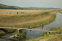 Romania. Iași County. Iasi. A group of children are running and crossing a bridge over Bahlui's river. Iași (also referred to as Iasi, Jassy or Iassy) is the largest city in eastern Romania and the seat of Iași County. Located in the Moldavia region, Iași has traditionally been one of the leading centres of Romanian social life. The city was the capital of the Principality of Moldavia from 1564 to 1859, then of the United Principalities from 1859 to 1862, and the capital of Romania from 1916 to 1918. 15.06.15 © 2015 Didier Ruef