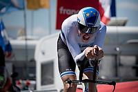 European iTT Champion Stefan Küng (SUI/Groupama - FDJ)<br /> <br /> Stage 20 (ITT) from Libourne to Saint-Émilion (30.8km)<br /> 108th Tour de France 2021 (2.UWT)<br /> <br /> ©kramon