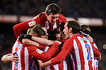 Atletico de Madrid's Nico Gaitán, Saúl Ñígez, Koke Resurrección, Sime Vrsaljko, Fernando Torres, Antoine Griezmann and Filipe Luis celebrating a goal during La Liga match between Atletico de Madrid and Real Betis at Vicente Calderon Stadium in Madrid, Spain. January 14, 2017. (ALTERPHOTOS/BorjaB.Hojas)
