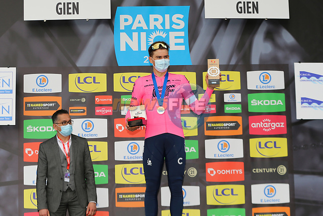 Stefan Bissegger (SUI) EF Education-Nippo wins Stage 3 of Paris-Nice 2021, an individual time trial running 14.4km around Gien, France. 9th March 2021.<br /> Picture: ASO/Fabien Boukla   Cyclefile<br /> <br /> All photos usage must carry mandatory copyright credit (© Cyclefile   ASO/Fabien Boukla)