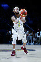 July 14, 2016: JORDAN MCLAUGHLIN (3) of the USC Trojans passes the ball during game 2 of the Australian Boomers Farewell Series between the Australian Boomers and the American PAC-12 All-Stars at Hisense Arena in Melbourne, Australia. Sydney Low/AsteriskImages.com