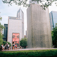 Crown Fountain is pictured in Chicago's Millennium Park on Sunday, July 1, 2018. (Photo by James Brosher)