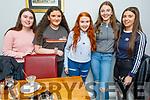 Eva Nolan from Kilflynn celebrating her 15th birthday in Bella Bia on Saturday<br /> L to r: Anna Kerdzaia, Isabel Ryan, Eva Nolan, Niamh Quinn and Casey Borst