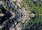 Quartzite Ledges Reflecting in George Lake at Killarney Provincial Park, Ontario