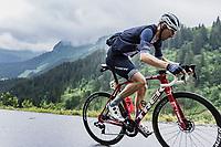 Bauke Mollema (NED/Trek-Segafredo) up the Col de la Colombière<br /> <br /> Stage 8 from Oyonnax to Le Grand-Bornand (150.8km)<br /> 108th Tour de France 2021 (2.UWT)<br /> <br /> ©kramon