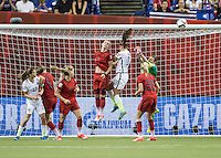 Montreal, Canada - Tuesday, June 30, 2015: The USWNT defeat Germany 2-0 in Semi-final action during FIFA Women's World Cup 2015 at Olympic Stadium.