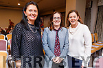 Maureen Duggan (Tralee), Laura O'Sullivan (Ballyheigue) and Karen White (Tralee) attending the Kinetic Nutrition Tír na nÓg Orphanage Fundraiser in the Rose Hotel on Thursday night.