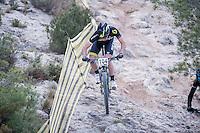Chelva, SPAIN - MARCH 6: Ivo Castella during Spanish Open BTT XCO on March 6, 2016 in Chelva, Spain