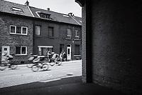 Break away group through the streets of Tongeren, were they hit 3 local laps<br /> <br /> Baloise Belgium Tour 2017 (2.HC)<br /> Stage 5: Tienen - Tongeren 169.6km
