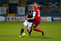 19th December 2020; Dens Park, Dundee, Scotland; Scottish Championship Football, Dundee FC versus Dunfermline; Paul McGowan of Dundee goes past Steven Whittaker of Dunfermline Athletic