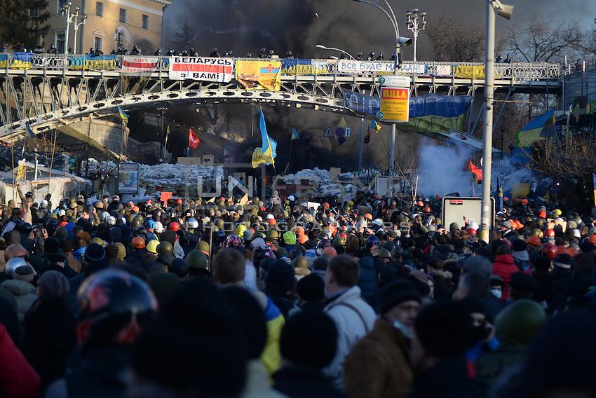 Protesters in Maidan square.  Kiev, Ukraine