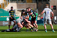 13th March 2021; Franklin's Gardens, Northampton, East Midlands, England; Premiership Rugby Union, Northampton Saints versus Sale Sharks; Alex Coles of Northampton Saints takes the ball into contact