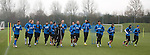 Rangers players at training this morning