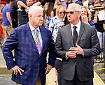July 31, 2021: Trainer Todd Pletcher during the running of a maiden special weight on the turf on the Jim Dandy undercard at Saratoga Race Course in Saratoga Springs, N.Y. on July 31, 2021. Dan Heary/Eclipse Sportswire/CSM