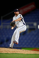 Binghamton Rumble Ponies relief pitcher Tim Peterson (23) delivers a pitch during a game against the Altoona Curve on May 17, 2017 at NYSEG Stadium in Binghamton, New York.  Altoona defeated Binghamton 8-6.  (Mike Janes/Four Seam Images)