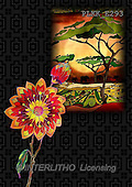 Kris, ETHNIC, paintings,+savanna, flowers++++,PLKKE293,#ethnic# Africa