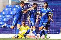 13th September 2020; Portman Road, Ipswich, Suffolk, England, English League One Footballl, Ipswich Town versus Wigan Athletic; Gwion Edwards of Ipswich Town celebrates after he scores for 2-0 in the 80th minute