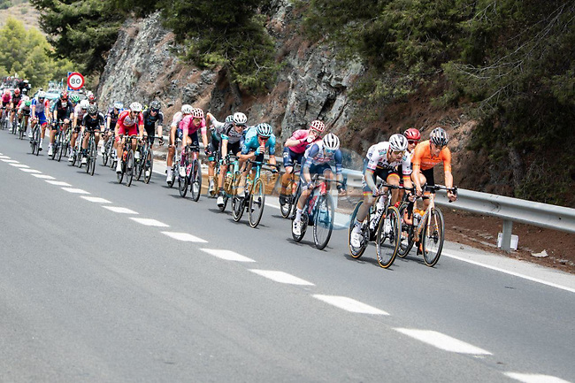 The breakaway during Stage 10 of La Vuelta d'Espana 2021, running 189km from Roquetas de Mar to Rincón de la Victoria, Spain. 24th August 2021.     <br /> Picture: Cxcling | Cyclefile<br /> <br /> All photos usage must carry mandatory copyright credit (© Cyclefile | Cxcling)