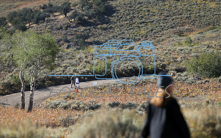 10K walkers compete in the 8th annual Take it to the Lake race at Cave Lake State Park, near Ely, Nev., on Saturday, Sept. 21, 2019.<br /> Photo by Cathleen Allison/Nevada Momentum