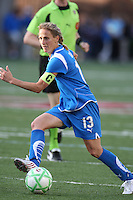 Kristine Lilly dribbles the ball. Saint Louis Athletica defeated the Boston Breakers 1-0 in Cambridge, Massachusetts on June 14, 2009.