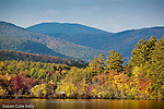 Fall foliage on Kezar Lake in Lovell, Oxford County, ME