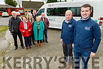 Ballymac Community Council launch their new Local Link bus to Tralee in Ballymac on Friday.<br />  Front: James Ryall and Aidan Savage (Business Manager Local Link Kerry). <br /> Back l to r: Pat McCarthy, Betty Heffernan, Theresa Reidy, Fionnán Fitzgerald (Sec Ballymac Community Council), Con and Marion Keliher.