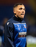 Bolton Wanderers' Antoni Sarcevic warming up before the match <br /> <br /> Photographer Andrew Kearns/CameraSport<br /> <br /> The EFL Sky Bet League Two - Bolton Wanderers v Mansfield Town - Tuesday 3rd November 2020 - University of Bolton Stadium - Bolton<br /> <br /> World Copyright © 2020 CameraSport. All rights reserved. 43 Linden Ave. Countesthorpe. Leicester. England. LE8 5PG - Tel: +44 (0) 116 277 4147 - admin@camerasport.com - www.camerasport.com