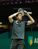 Rotterdam, The Netherlands, Februari 9, 2016,  ABNAMROWTT, Robin Haase (NED)<br /> Photo: Tennisimages/Henk Koster