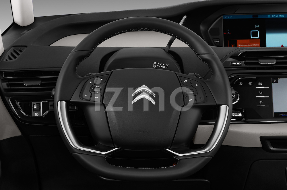 Car pictures of steering wheel view of a 2016 Citroen Grand-C4-Picasso Shine 5 Door Mini MPV Steering Wheel