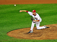 27 September 2010: Washington Nationals' pitcher Jayson Werth on the mound against the Philadelphia Phillies at Nationals Park in Washington, DC. With an 8-0 shutout win, the Philles become the National League Eastern Division Champions. Mandatory Credit: Ed Wolfstein Photo