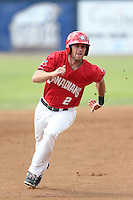 Gunnar Heidt (2) of the Vancouver Canadians runs the bases during a game against the Eugene Emeralds at Nat Bailey Stadium on July 22, 2015 in Vancouver, British Columbia. Vancouver defeated Eugene, 4-2. (Larry Goren/Four Seam Images)