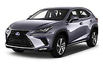 2018 Lexus NX Executive Line 5 Door SUV angular front stock photos of front three quarter view