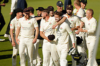 30th May 2021; Emirates Old Trafford, Manchester, Lancashire, England; County Championship Cricket, Lancashire versus Yorkshire, Day 4; Elation for Dane Vilas and the Lancashire players as the last Yorkshire wicket falls for 271 and the Red Rose claims victory by an innings and 79 runs