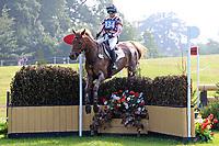 4th September 2021; Bicton Park, East Budleigh Salterton, Budleigh Salterton, United Kingdom: Bicton CCI 5* Equestrian Event; Georgie Spence riding Halltown Harley
