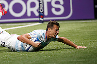 26th September 2020, Paris La Défense Arena, Paris, France; Champions Cup rugby semi-final, Racing 92 versus Saracens; Imhoff (Racing 92) goes over for a try