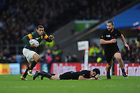Bryan Habana of South Africa in action during the Semi Final of the Rugby World Cup 2015 between South Africa and New Zealand - 24/10/2015 - Twickenham Stadium, London<br /> Mandatory Credit: Rob Munro/Stewart Communications