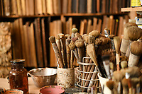 BNPS.co.uk (01202 558833)<br /> Pic: ZacharyCulpin/BNPS<br /> <br /> The tools of Borys's trade<br /> <br /> Antique frames are being carefully restored using centuries-old techniques at a small central London business.<br /> <br /> Rollo Whately Ltd, off St James's Street, was started by Rollo 22 years ago and have a range of fine art auction and museum clients.<br /> <br /> He is assisted by wood carver Borys Burrough in restoring frames, typically dating from the 17th to the 19th century.