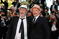 """CANNES, FRANCE - JULY 13: Actor Denis Podalydes and director Arnaud Desplechin at the """"Aline, The Voice Of Love"""" screening during the 74th annual Cannes Film Festival on July 13, 2021 in Cannes, France. <br /> CAP/GOL<br /> ©GOL/Capital Pictures"""