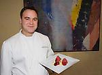 PAN Chef with Beef Tartare , Li Alto Mastai Restaurant, Rome, Italy, Europe