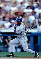 Tony Phillips of the New York Mets participates in a Major League Baseball game at Dodger Stadium during the 1998 season in Los Angeles, California. (Larry Goren/Four Seam Images)