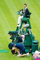 25-06-12, England, London, Tennis , Wimbledon, Umpirechair and ballboys