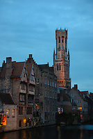 Belfort Tower And Brugge Architecture