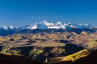 Wilson Peak at sunrise on a clear Autumn morning in the San Juan Mountains near Telluride, Colorado